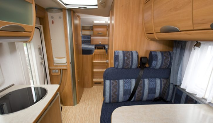 2007 Hymer T 674SL - view from cab looking aft