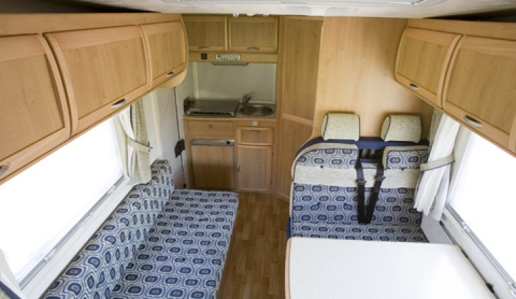 2006 McLouis Lagan 410 - interior looking aft from overcab bed
