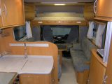 2006 Frankia A820BD - interior looking forward from bed