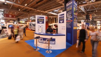 Practical Motorhome stand at Motorhome and Caravan Show