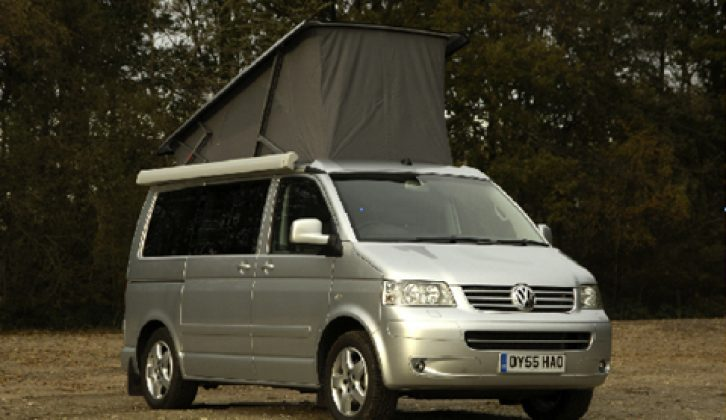 2006 Volkswagen California - front three-quarters view (roof up)
