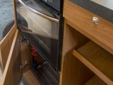 Kitchen in the Tribute T-170 motorhome reviewed by experts at Practical Motorhom