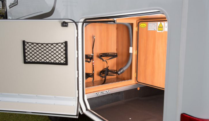 Hymer Exsis t-588 garage storage reviewed by the experts at Practical Motorhome