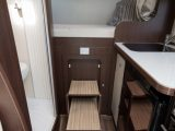 Practical Motorhome's reviewers prefer this pull out step to a ladder, as it eases access to the fixed rear double