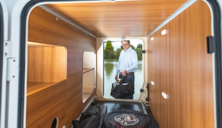 The Chausson Welcome 717 has a good sized, full width garage that can accommodate bikes