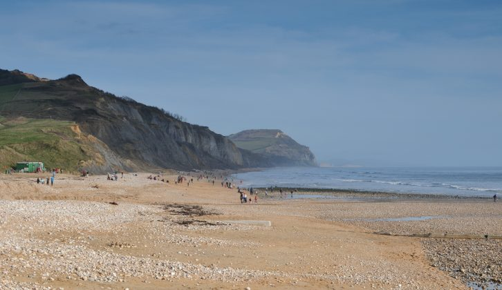 Discover the Dorset coast, such as Charmouth beach, when visiting Setley Ridge Vineyard on your out of season motorhome tour