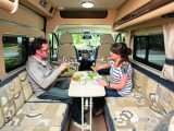 Four can eat a meal together in the Auto-Sleepers Kemerton XL