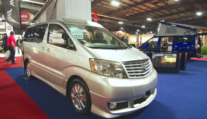 Made for the Japanese market, this Toyota Alphard based campervan turned heads on the Wellhouse stand