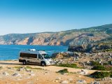 Take your 'van to Portugal's stunning Carcavelos Beach – it's just a short drive from Lisbon