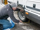 Fit snowchains to your motorhome tyres – this can be tricky in the dark or with cold fingers, so make sure you practise fitting snowchains before your ski holidays