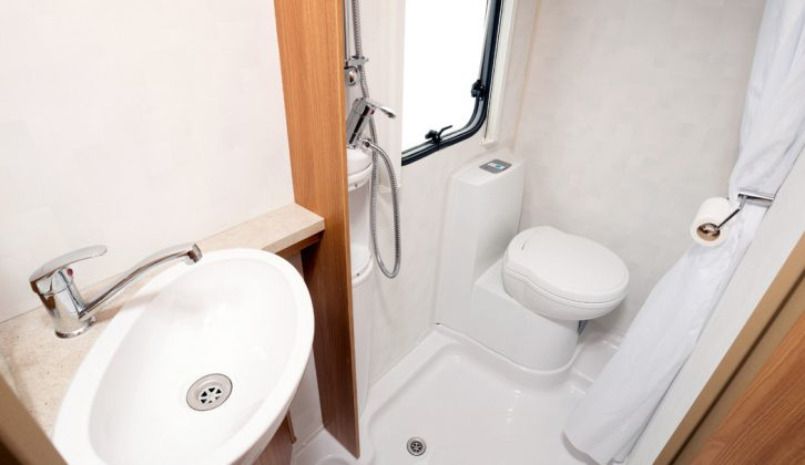 The wet room in the Swift Lifestyle 664 is compact but members of our test team who eschew on-site facilities found it was more than up to the job