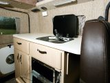 Cooks will certainly be able to get creative in the Auto-Sleeper Wave's galley kitchen and there's plenty of drying space available next to the sink