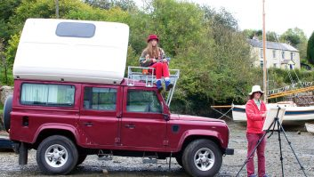 Artist John Dyer's decision to convert his Land Rover Defender into a campervan has made it a joy to work on location