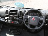 Cab upgrades as part of the UK specification in the Carado T 339 motorhome include cruise control and passenger airbag, plus driving aids ESC with ASR and hill hold