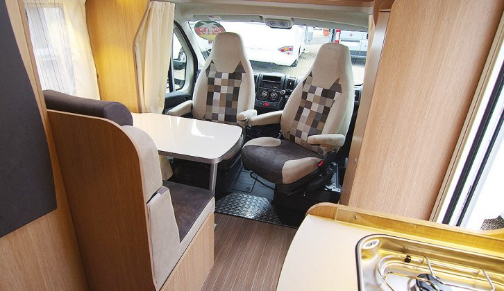 """One advantage of the T60's fairly tall dimensions is that there are no internal level changes to trip you up as you move through the motorhome (the external height is 2.91m, or 9'6.5"""")"""