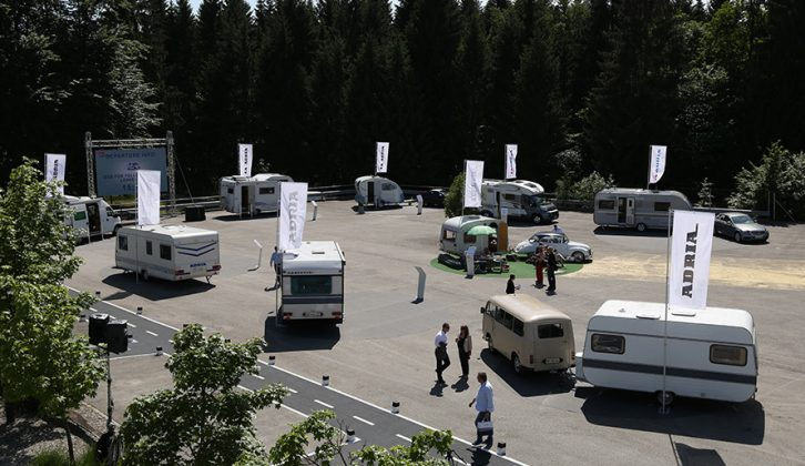 To mark 50 years, Adria showed a collection of motorhomes and caravans from across its history