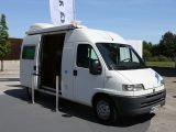 Launched in 2000 and based on the Fiat Ducato, the Adria Van can carry five passengers and sleep three