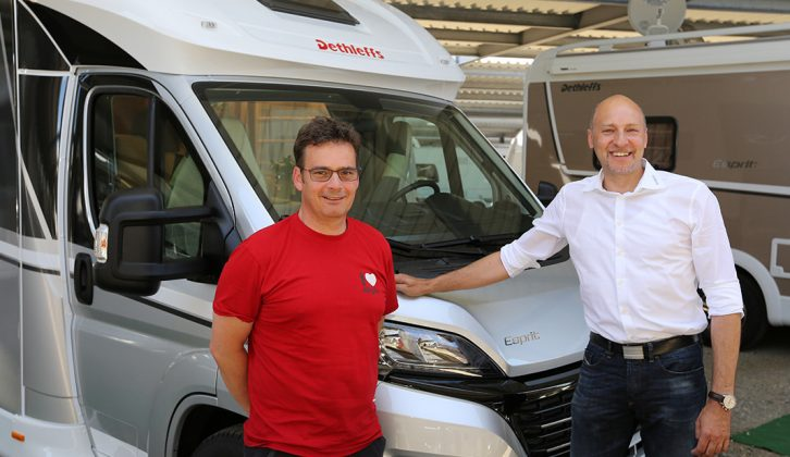 Dethleffs' new managing director, Alexander Leopold (right), talks to Practical Motorhome about the brand's aspirations, pictured with Michael Bosch, Export Manager