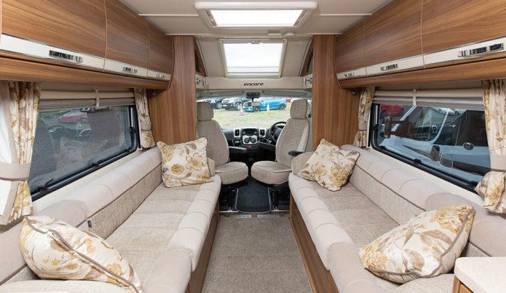 Inside the 2016 Elddis Encore 275 – the range starts at £47,299