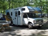 Pitching the hired motorhome at the Deer Run 'Adventure Bound' campsite near Saratoga Springs was a chance to recharge everyone's batteries