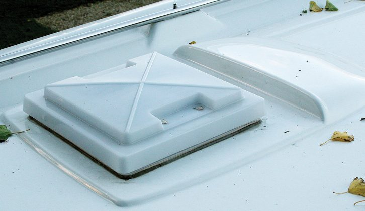 Good: this GRP's rooflight is mounted on a raised portion above surface water, behind a raised deflector to divert wind on the road