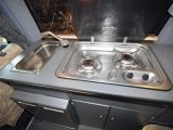 There just room for a two-ring hob and a small sink in the Wellhouse Toyota Noah