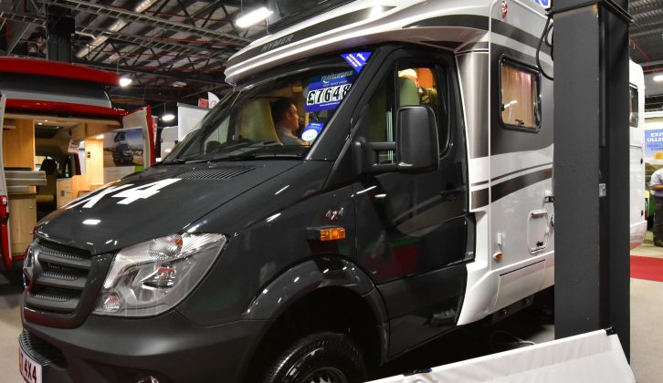 The new Hymer ML-T 580 4x4, which debuted in October at the NEC, was one of the stars of Manchester's Caravan & Motorhome Show