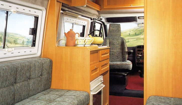 The E370 boasts a triple-aspect rear lounge with washroom and kitchen amidships