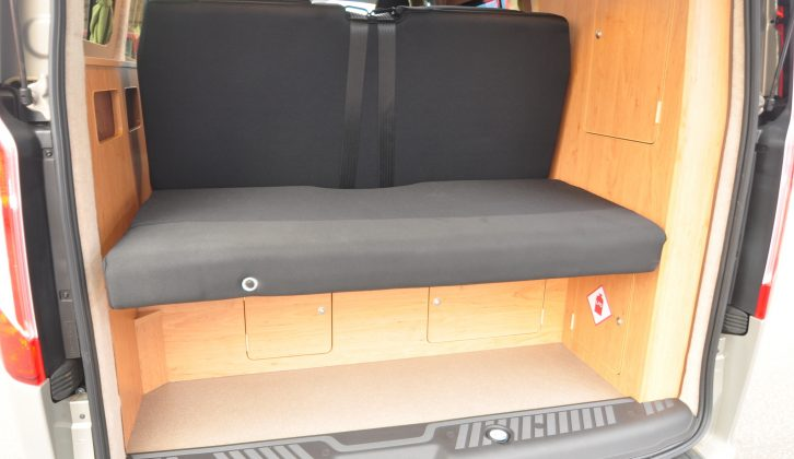 There's plenty of storage space through the hatches inside the tailgate, where the rearmost bed section can fold flat