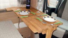 Reader Michael Crook built this folding dinette table for his motorhome