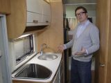 Priced at just under £46,000, the Lunar Selena 690B's washroom and kitchen are in the centre of the 'van