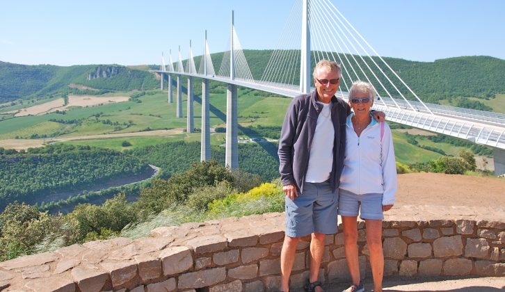 Decide what you want to spend your money on – pay €10 to enjoy driving over the Millau Viaduct and make the stop-off part of your trip, says Mick, pictured with wife Elaine
