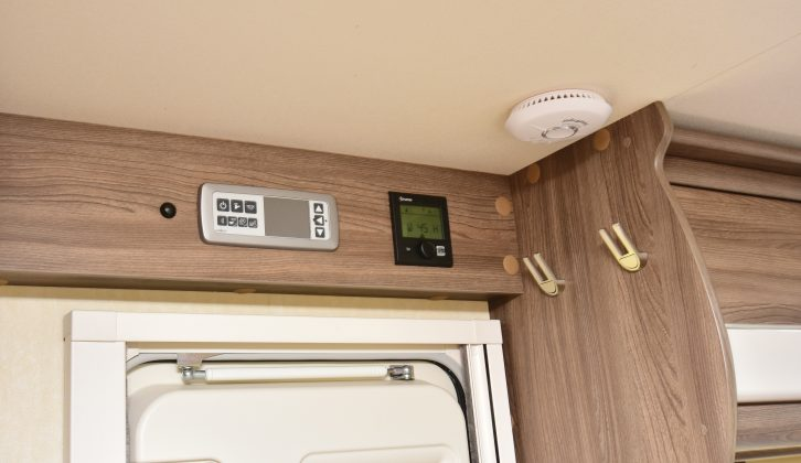 Controls for the living area's services are above the nearside habitation door, with some useful hooks nearby