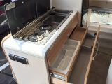 You get a standard campervan kitchen with decent storage in the Grand Canyon S