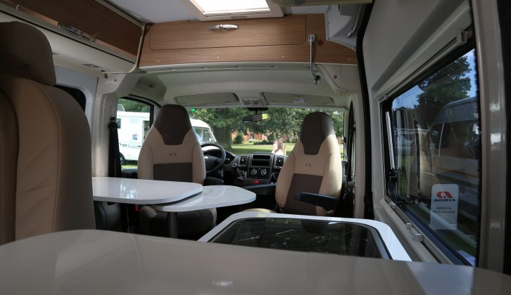 It's just 5.41m long, but the Adria Twin 540 SPT's large windows let light flood in, so it feels a good size