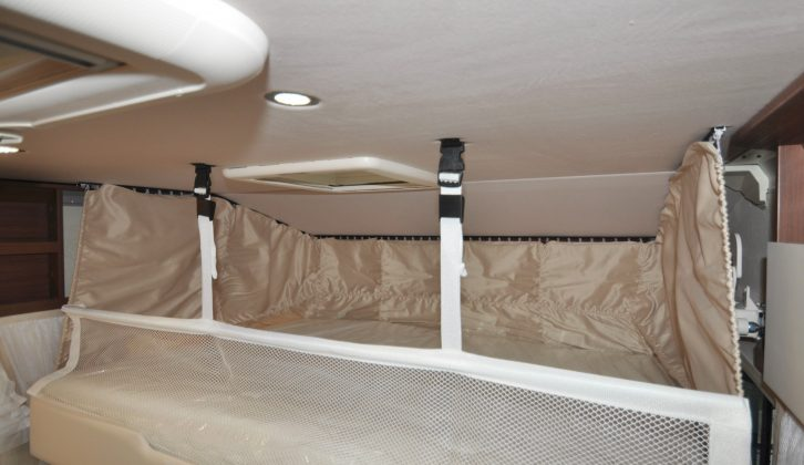 """The 1.91 x 1.32m (6'3"""" x 4'4"""") drop-down double bed provides comfortable guest accommodation"""
