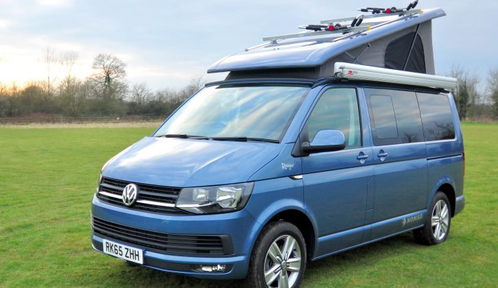 The Kombi-based Nomad Ranger costs from £44,135 OTR – the campervan pictured is £49,985