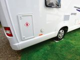 A lockable compartment at the rear corner of the Swift Escape 694ˆ‰ allows you to store two sizeable gas bottles