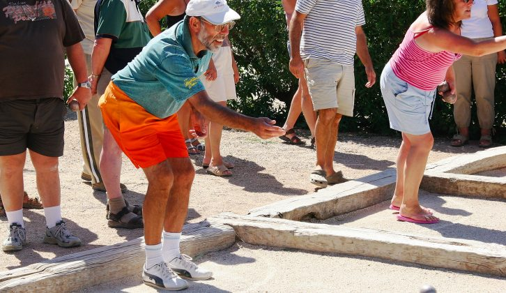 Rallies aren't always sedate: you could take on other motorcaravanners at boules, for example!