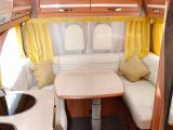 The U-shaped rear lounge is certainly bright and spacious