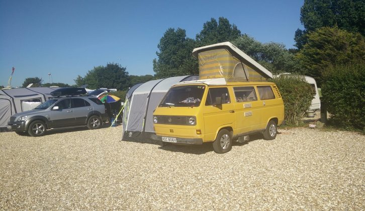 Lazy days in the Dorset sunshine seemed to suit our VW camper van