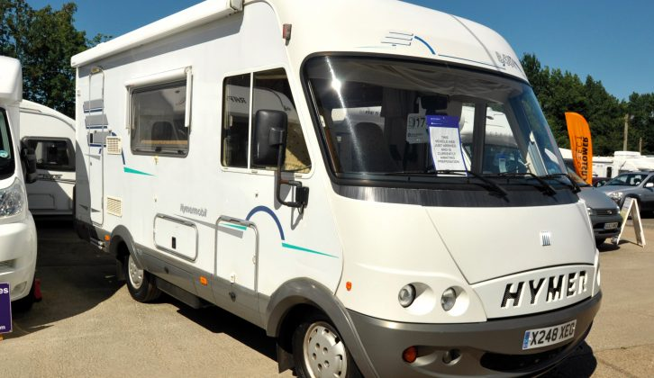 This 2001 Hymer B-Class 584 is left-hand drive