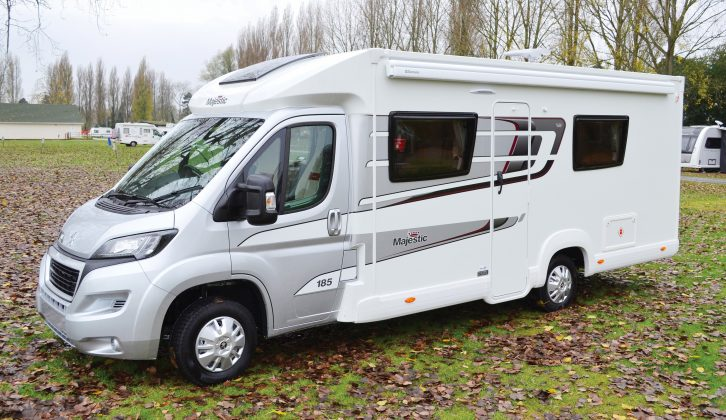 The Marquis Majestic range is based on Elddis motorhomes, and these dealer specials get silver and grey decals across their exteriors, which match the Peugeot cabs