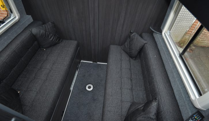 The parallel lounge can easily seat four and is at the rear of the living space