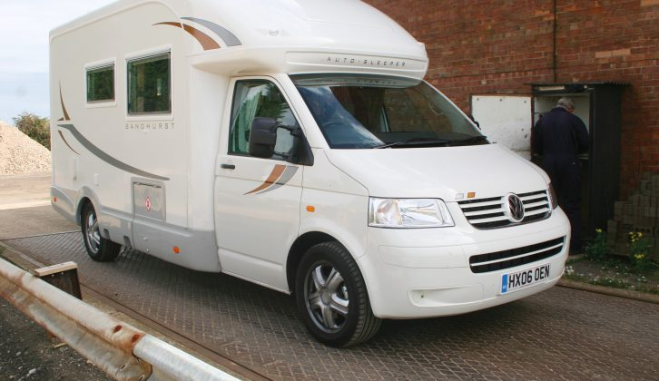 Visit a public weighbridge so you can get accurate figures for your motorhome