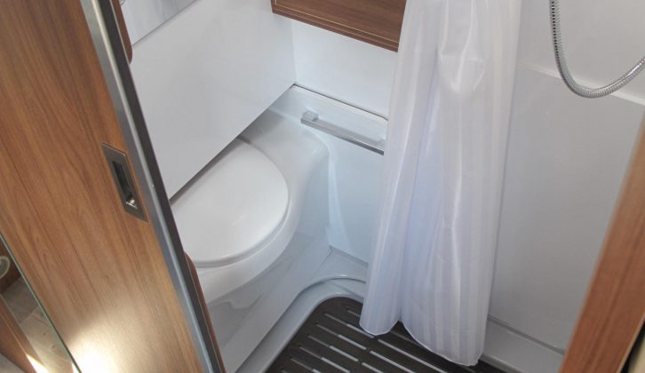 This clever, space-saving sliding toilet features in three 2018-season Pilote Foxy Vans