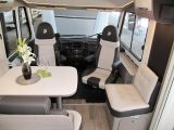 The Magic Edition I2EB has a bright lounge, fixed single beds and a drop-down bed