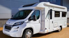 This rear-lounge, 3500kg 'van is a pretty manageable 6.79m long – the wind-out awning is standard, too