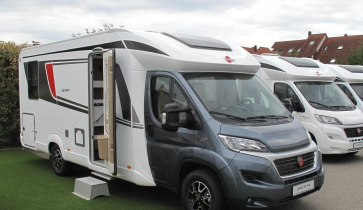 The Fiat Ducato-based Lyseo TD 744 has an eye-catching dark cab