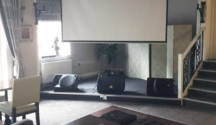 There are often film screenings in the function room